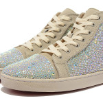 Christian Louboutin Apricot Hot Fix Rhinestone Shoes